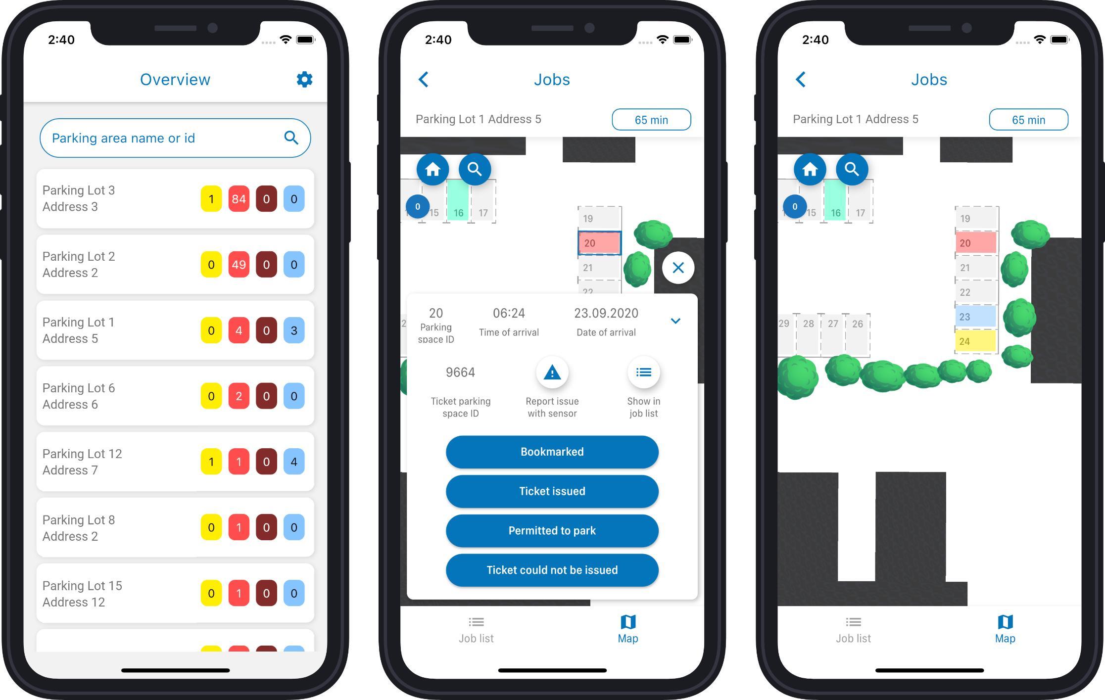 Parken Verwaltung App